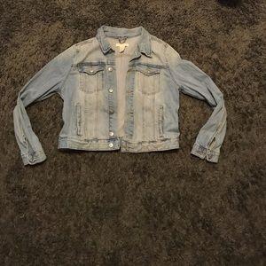 H&M cropped jean jacket